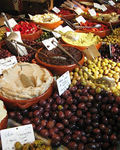 Paris market olives